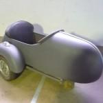 Sidecar Vespa em metal